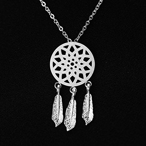 Silver Dream catcher necklace pendant suspension in style (Hip Hop Harry Costume)