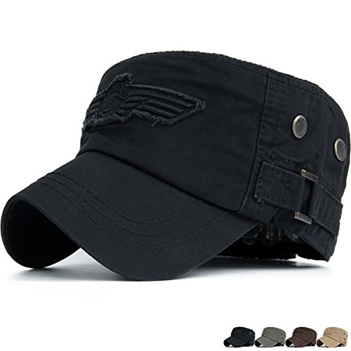 Unisex Military Cap (Rayna Fashion Unisex Adult Cadet Caps Military Hats Various Style and Colors)