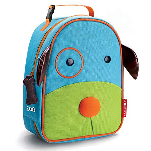 Skip Hop Zoo Kids Insulated Lunch Box, Darby Dog, Blue ()
