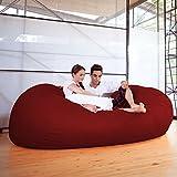Jaxx 7 ft Giant Bean Bag Sofa, Cinnabar
