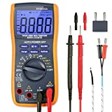 AstroAI True RMS Digital Multimeter 6000 Counts with Manual and Auto Ranging; Measures Voltage, Current, Resistance, Continuity, Capacitance, Frequency; Tests Diodes, Transistors, Temperature