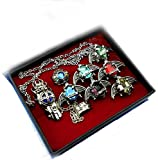 Touirch Anime Hitman Reborn Rings and Necklace Of Cosplay Set (C)