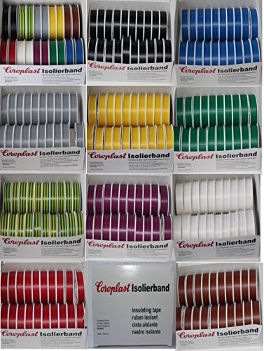 Coroplast Box VDE Isoband Elektriker Isolierband Klebeband 15mm x 10 m Schwarz
