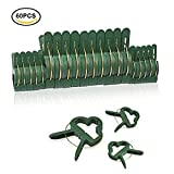 Plant Support ClipsFlower and Vine Clips60 Pcs Garden Tomato Plant Support Clips for Supporting StemsVines Grow Upright ( 2 sizes in one pack )