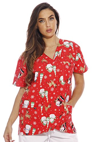 - Just Love 216VG-1-XL Women's Scrub Tops/Holiday Scrubs/Nursing Scrubs