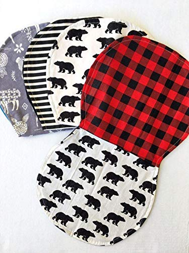 2 Tone Baby Burp Cloth,Burp Cloth Boy,Burp Cloth Girl,Contoured Burp Rags,Burp Cloth Set,Llama Baby Gift,Pick Your Color, 3pack or 4pack Set
