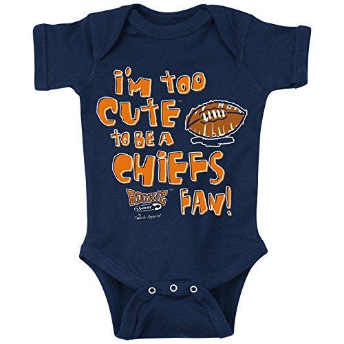 Denver Broncos Football Baby Onesie - Smack Apparel Denver Football Fans. Too Cute. Onesie (NB-18M) or Toddler Tee (2T-4T) (12 Month)