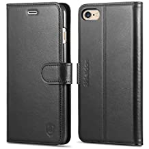 iPhone 6S Plus Case, iPhone 6 Plus Case, SHIELDON Genuine Leather Wallet Case, [Lifetime Warranty] Flip Book Case with Stand Feature, Cards Slots, Magnetic Clasp for iPhone6S Plus / iPhone6 Plus, Black