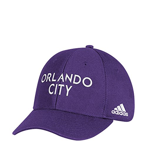 adidas Adult Men Wordmark Mesh Structured Adjustable Hat, Purple, One Size