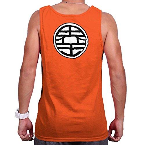 Brisco Brands Master Roshi Turtle School Cool Shirt | Dragon Kai Ball King Tank Top Shirt (Screen Jersey Print Sleeveless)