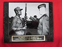 Roberto Clemente Pirates Collector Plaque w/RARE US MARINE CORPS 8x10 Photo!