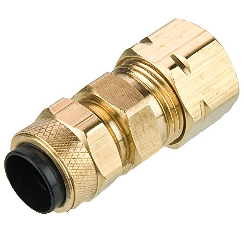 (Parker 62PCA-4-pk20 Compression Fitting for Thermoplastic and Soft Metal Tubing, Poly-Tite, Tube to Poly-Tite, Brass, Compression Union, 1/4