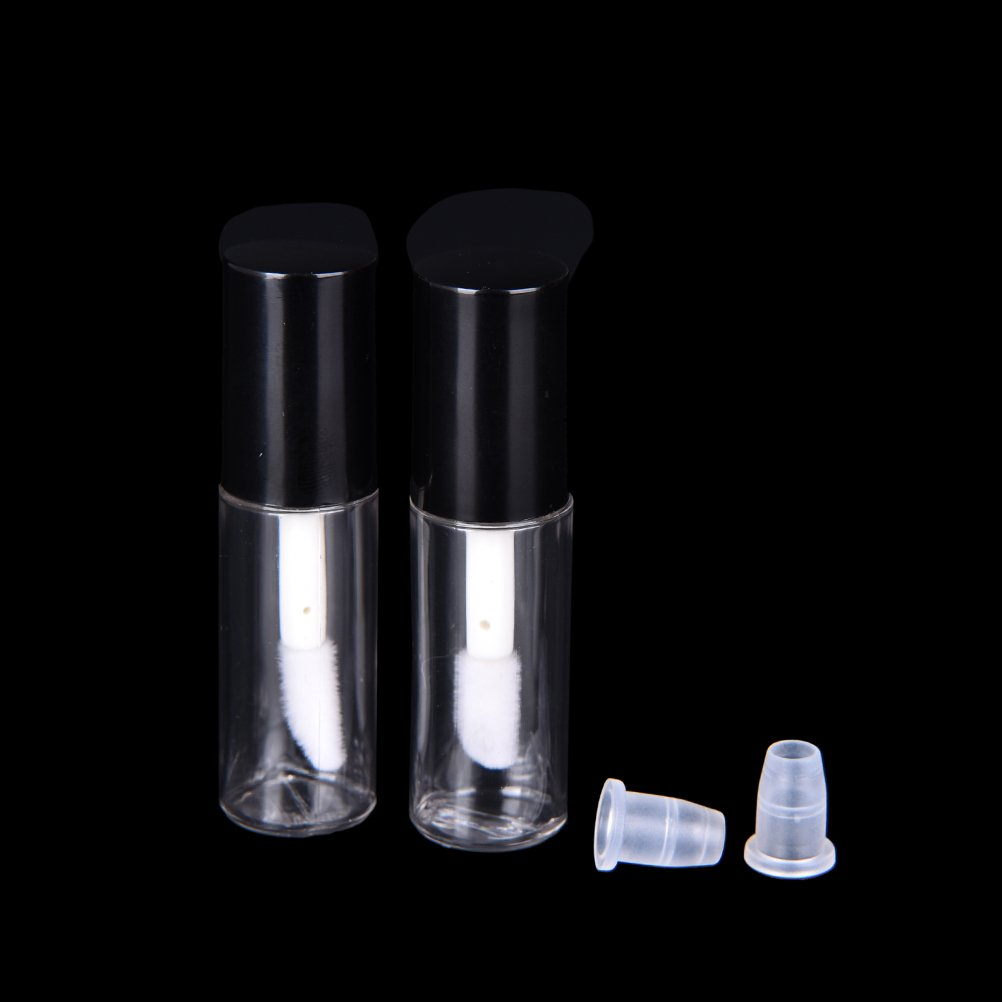 2 Pcs Empty Lip Gloss Bottle Travel Empty Lip Balm Cosmetic Container Tube by HONGTIAN Clarity Deal