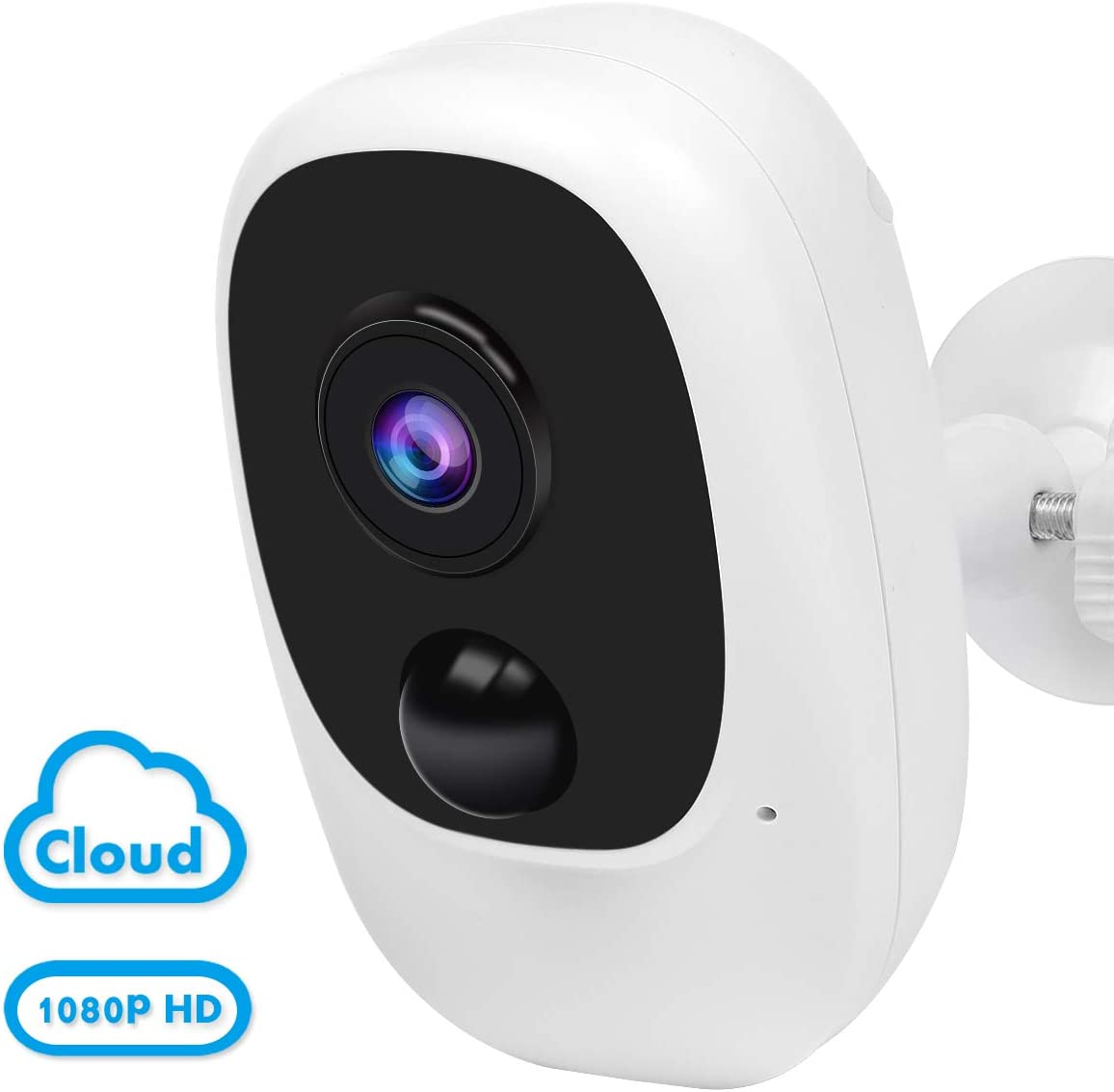 Wireless Outdoor Security Camera,Rechargeable Battery Powered WiFi Camera,1080P Home Security Camera with 2-Way Audio,Wi-Fi IP Camera with Motion Detection,Night Vision,Waterproof,Cloud Micro SD Card