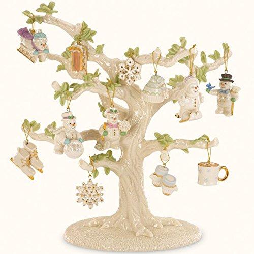 Lenox Snow Pals Miniature Tree with Ornaments Snowflake Snowman Sled Skates Skis Hat NEW ()