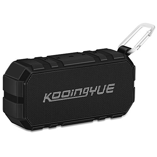KOOINGYUE Enhanced Bass Stereo Version IPX56 Splash Proof Portable Bluetooth Speaker With Volume Amplifier 10 W Power, 33 Wireless Range Bluetooth 4.0, Custom Bass Radiator/Black