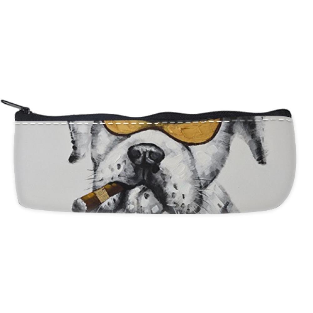 Bernie Gresham Cool Bulldog Watching Movie hot sale Custom Pencil Box Pencil Case