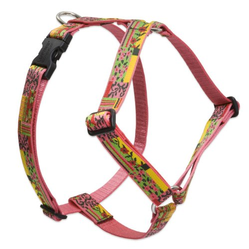 "LupinePet 1"" Flower Patch 20-32 Roman Dog Harness"