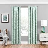 Eclipse 16429037063MNT Haley 37-Inch by 63-Inch Single Room Darkening Window Curtain Panel, Mint