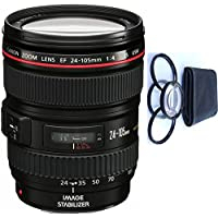 Canon 24-105mm L Lens (WHITE BOX) + 4pc Macro Lenses Set (+1 +2 +4 +10)