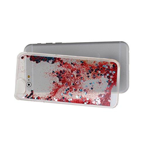 """Schutzhülle für iPhone 6, Nsstar® Hard Plastic Handyhülle Transparent Clear Cystal Case Glitter Flowing Bling Sterns und Sparkles Shinny Attraktiv Anti Scratch Hart Hülle Etui Schale für iPhone 6 4.7"""""""