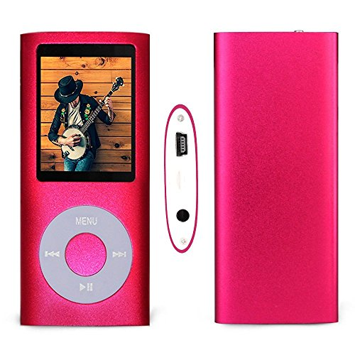 G.G.Martinsen 16 GB Mini Usb Port Slim Small Multi-lingual Selection 1.78 LCD Portable Mp3/Mp4, Mp3Player , Mp4Player , Video Player , Music Player , Media Player , Audio player With Photo Viewer , E-book Reader , Voice Recorder ,Games & Movie-Pink