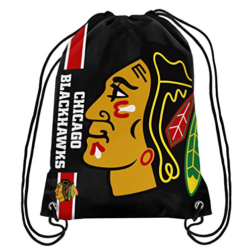 Blackhawks Chicago Bag - Chicago Blackhawks Big Logo Drawstring Backpack