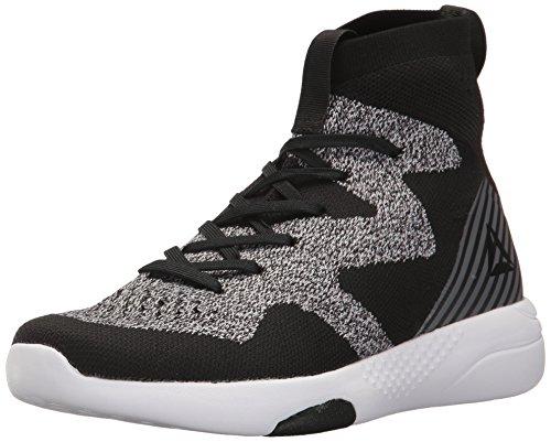 Reebok Women's Hayasu Ultraknit Running Shoe, Black/Flat Grey/White, 10 M US