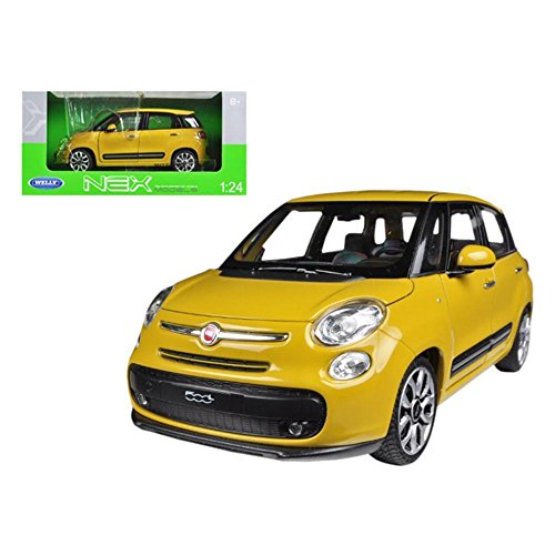Welly Wholesale 2013 Fiat 500L Yellow 1/24 Diecast Car Model