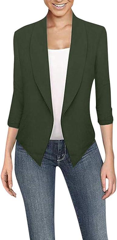 US Women/'s Casual Long Sleeve Coat Suit Slim Cardigan Tops Blazer Jacket Outwear