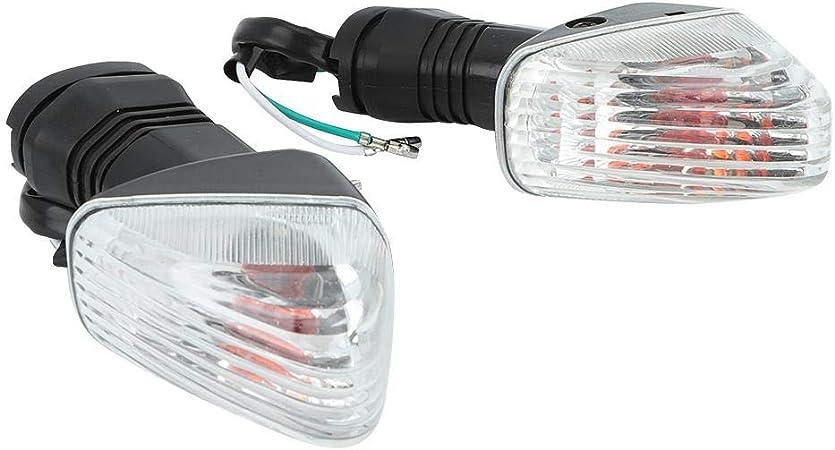 en blanco y negro Duokon 2PCS Luz de se/ñal de giro Motocicleta L/ámpara de se/ñal de giro Accesorios para NINJA ZX-6R 600,1997-2006