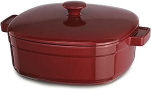 KitchenAid KCLI30CRER Streamline Cast Iron 3-Quart Casserole Cookware - Empire Red