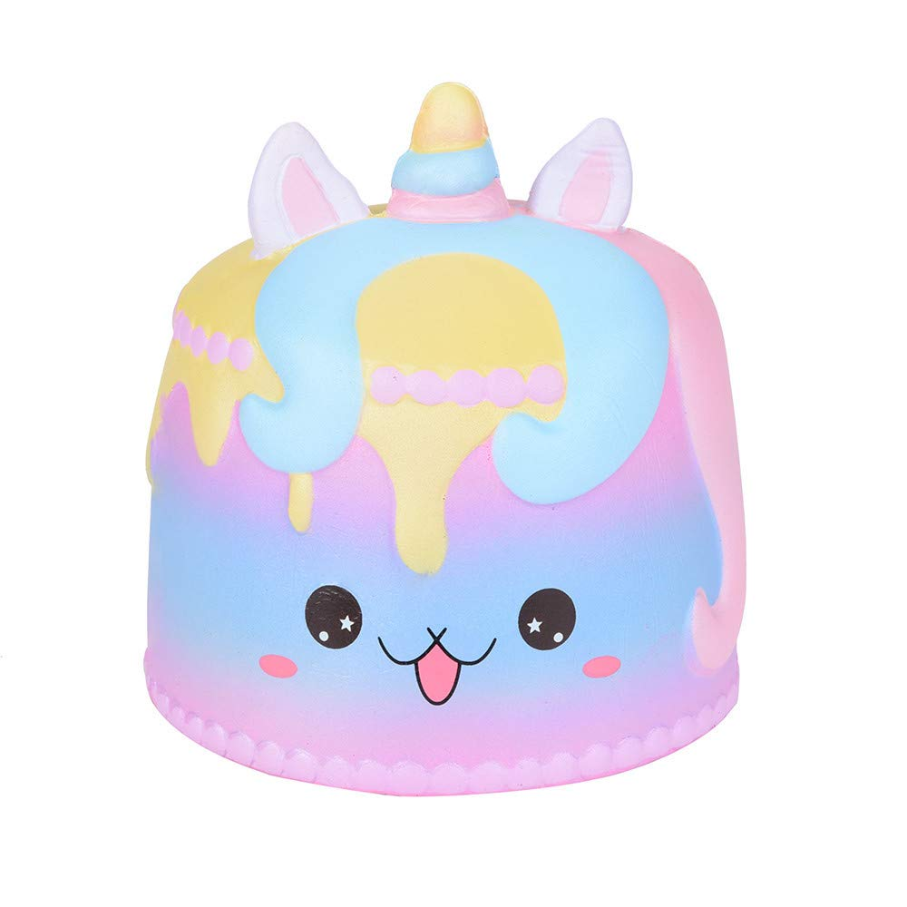 Cathalem_Toy Anxiety Relief Toys Squishy Jumbo Cartoon Unicorn Cake Scented Cream Super Slow Rising Squeeze Toy