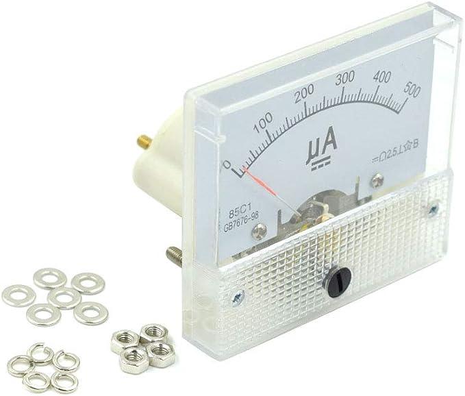 BokWin 85C1 DC 50uA Ammeter Analog Current Panel Meter for Circuit Testing Ampere Tester Gaug 1Pc