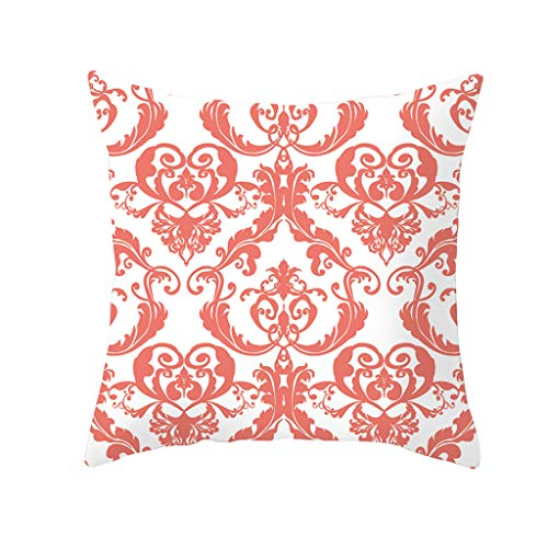 Nivalkid Living Coral Polyester Pillow Case Sofa Car Waist Throw Cushion Cover Home Decor Pink Bubble Girl Pillow Live Coral Peach Cashmere Pillow by Little Girl 45cm x 45cm ()