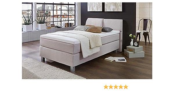 Cama pequeña con somier, cama con somier, 90 x 200 cm, fabricada en Alemania, incluye sobrecolchón, colchón de muelles ensacados, entrega y ...