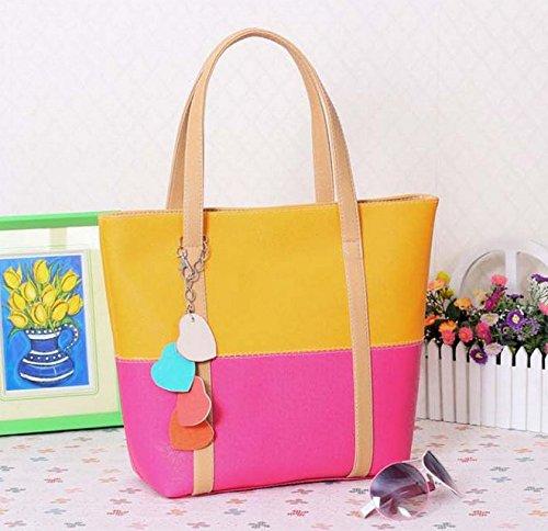 bhouir Frau Candy gemischt Farbe Handtasche