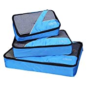 Amazon Lightning Deal 70% claimed: Travel Packing Cubes - 3 pc Set - Packing Organizers for Accessories