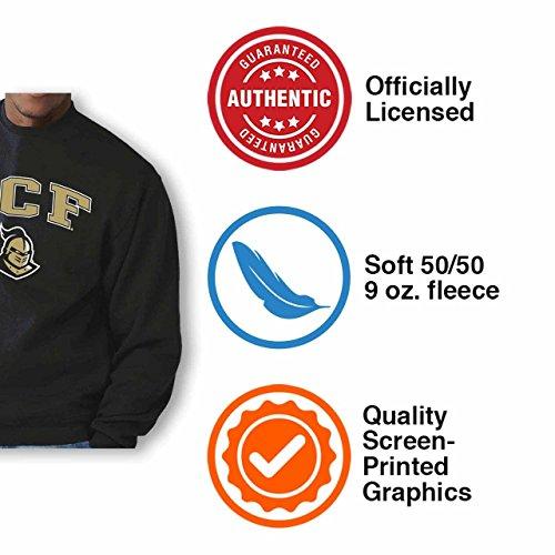 Central Florida Knights Adult Arch & Logo Gameday Crewneck Sweatshirt - Black, Medium by Campus Colors (Image #2)