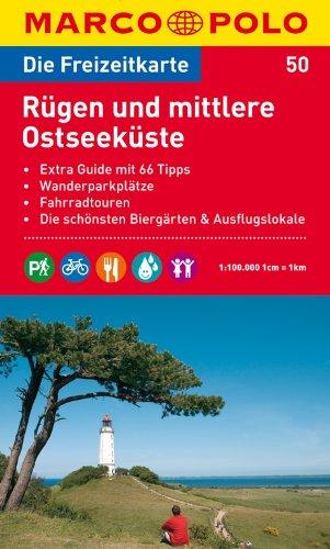 MARCO POLO Freizeitkarte Rügen und mittlere Ostseeküste 1:100.000 Broschiert – 1. Dezember 2011 MAIRDUMONT 3829736371 Deutschland Landkarte