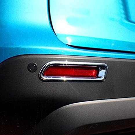 2pcs ABS trasera Fog Light Tapa moldeado cromo para Suzuki Vitara ...