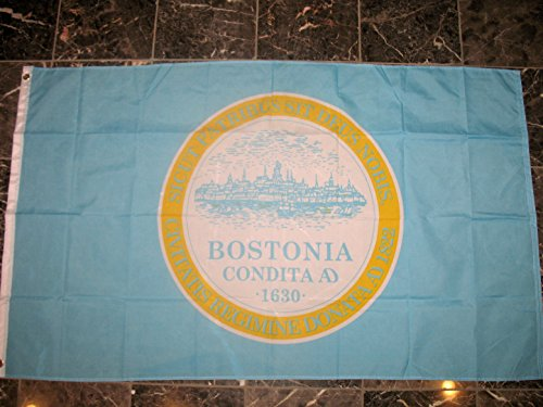 3'x5' CITY of BOSTON FLAG, Massachusetts banner