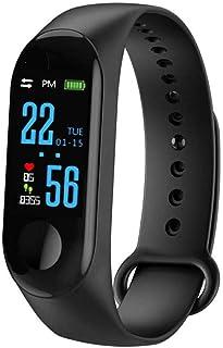 Easy-topbuy Fitness Tracker con cardiofrequenzimetro, contapassi, Display a Colori, M3, Smart Armband