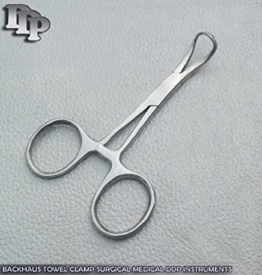 """Backhaus Towel Clamps Forceps 3.5"""" Surgical DDP Instruments"""