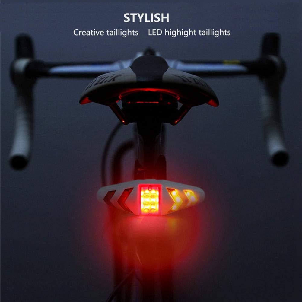 Mando a Distancia inal/ámbrico LED Resistente al Agua para la mayor/ía de Las Bicicletas Recargable IPX2 Globalqi Luz Trasera para Bicicleta
