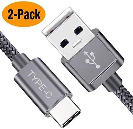 HGA Cable USB Tipo C, (Paquete de 2 6.6FT) USB-C a USB A Cargador ...