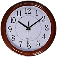 Bekith Classic Clock Quiet Sweep Wooden ...