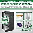 Growbox GrowPRO 2.0 S - Grow Set für Indoor Homegrow - 250W Grow Set Eco