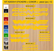 Kit Pegatinas Stickers Bicicleta Conor -12 Piezas- Bike ...