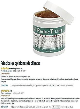 Reductor Anticelulítico REDUCTLINE xxl - 500 ml. Textura Gel- Fácil Absorción- Sensación Frio a base de Extractos Vegetales y Algas. Todo Tipo de Piel. Si practicas Deporte lo puedes Aplicar Antes.